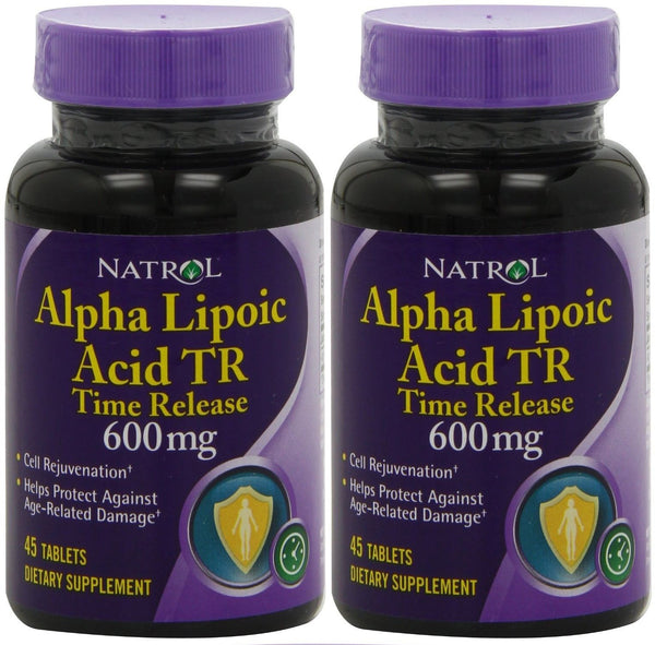 Natrol Alpha Lipoic Acid TR Time Release 600mg 45 Tablets