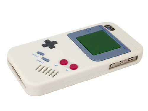 Game Boy Case for iPhone 4 4S Retro Gamer Soft Silicone Rubber Skin Cover
