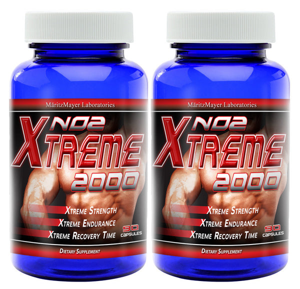 NO2 Xtreme 2000 Nitric Oxide Booster L Arginine Improve Strength Muscle Growth 90 Capsules