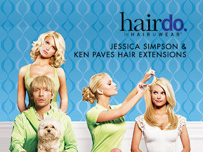Hairdo Jessica Simpson & Ken Paves Hair Extensions