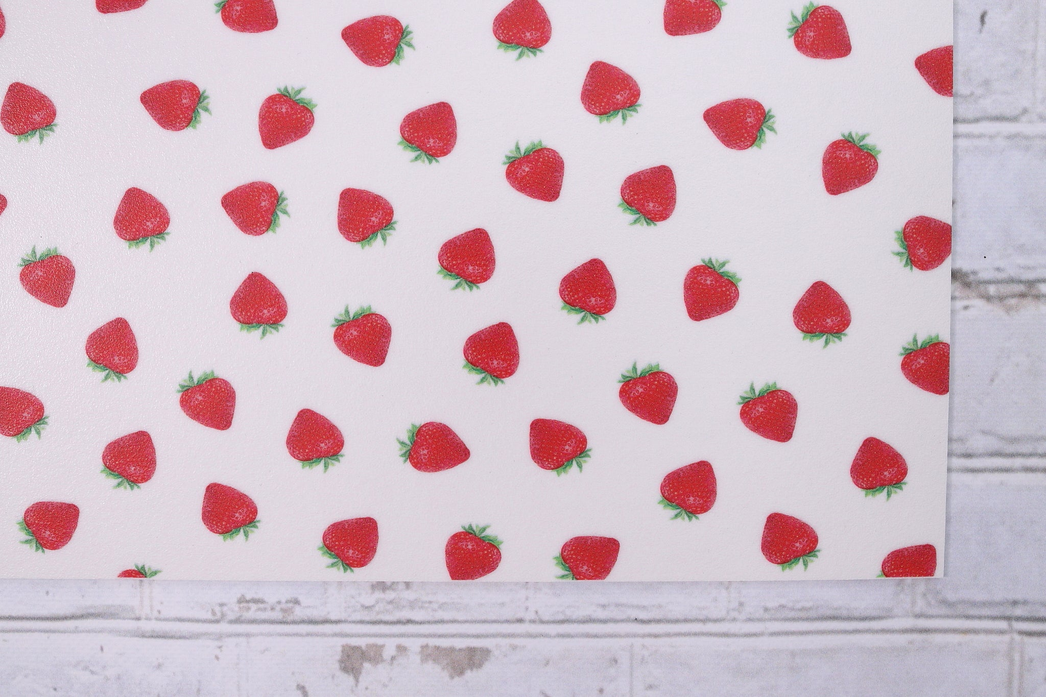 Napperon de Vinyle - Fraise / Strawberry