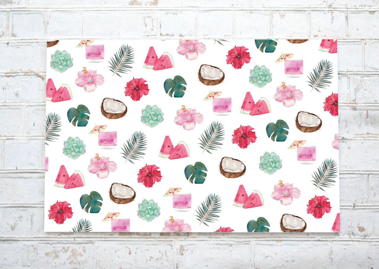 Tropical - Napperons de papier / Paper placemats