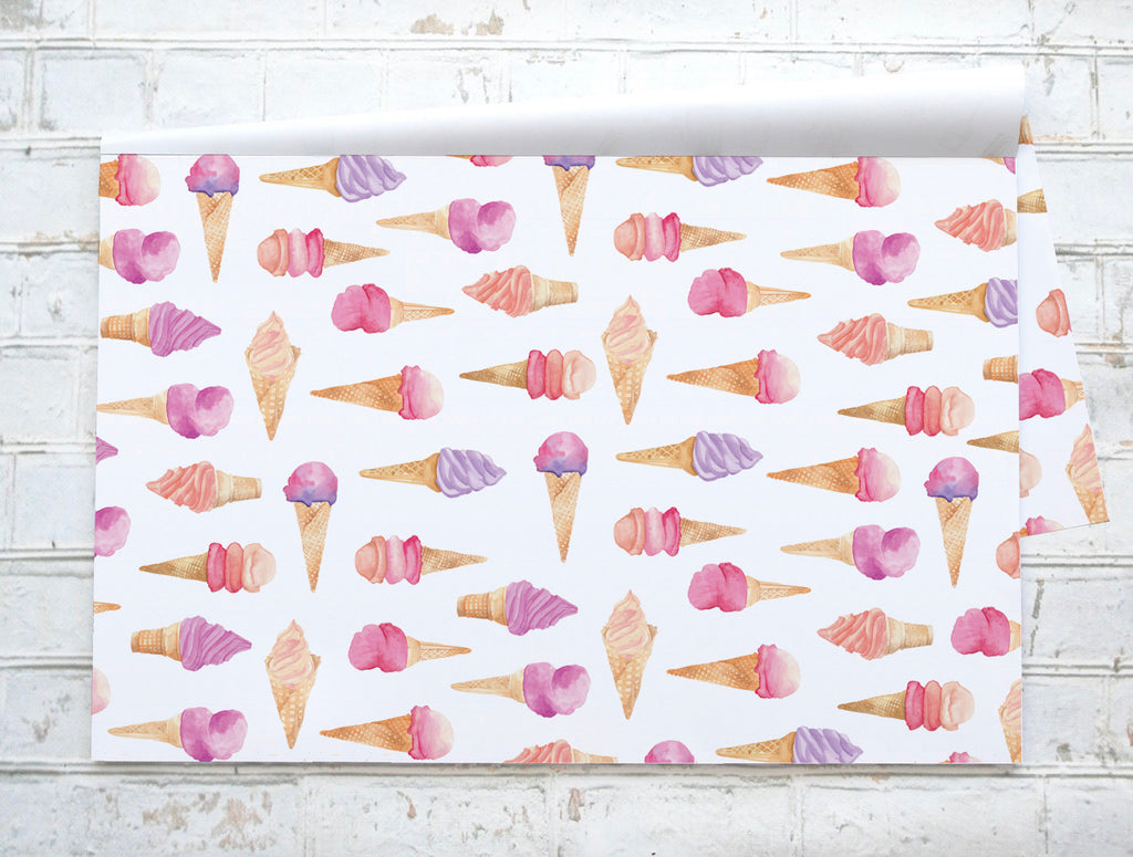 Glaces / Ice Cream - Napperons de papier / Paper placemats