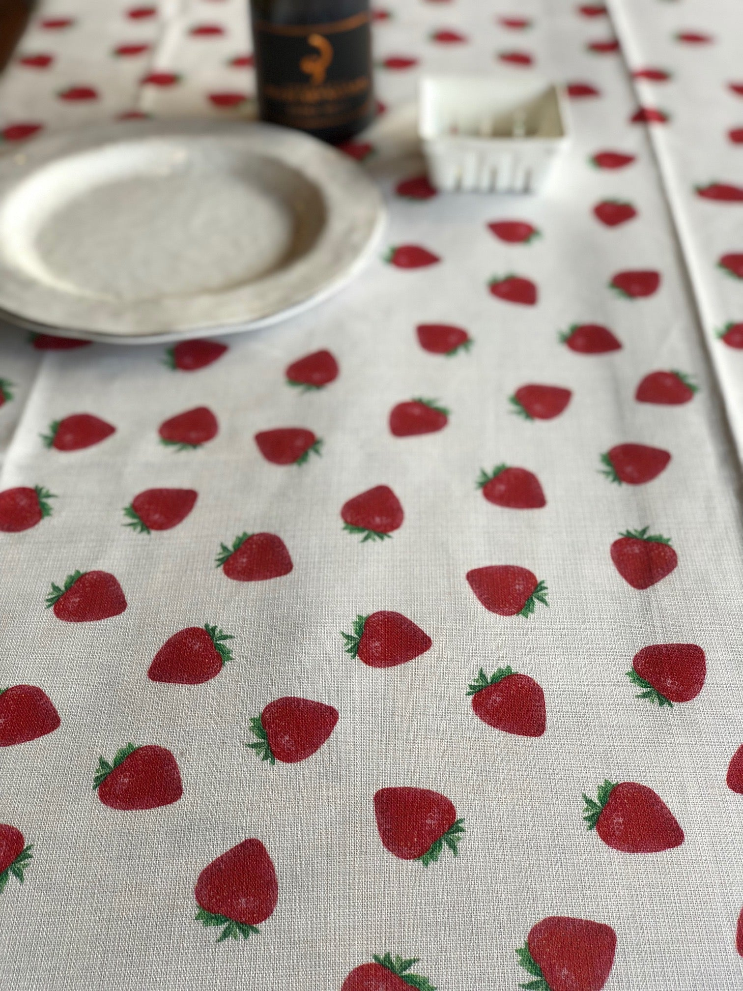 Nappe Fraise - Tablecloth Strawberry