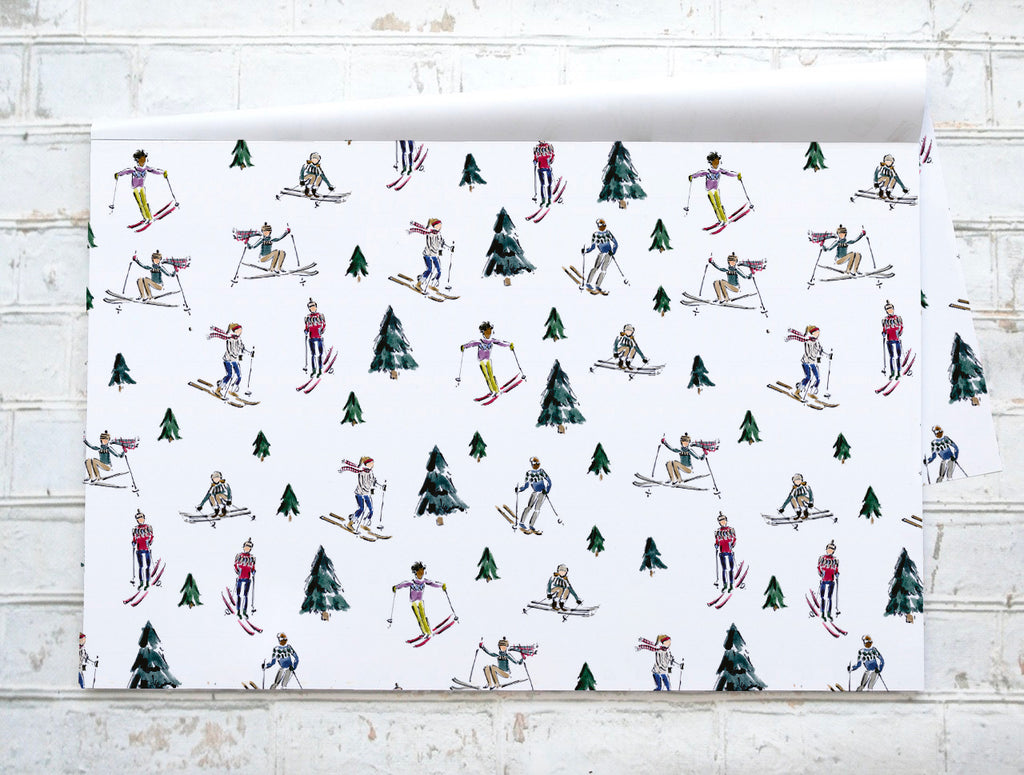 """On the slopes"" / ""Sur les pentes"" - Napperons de papier / Paper placemats"