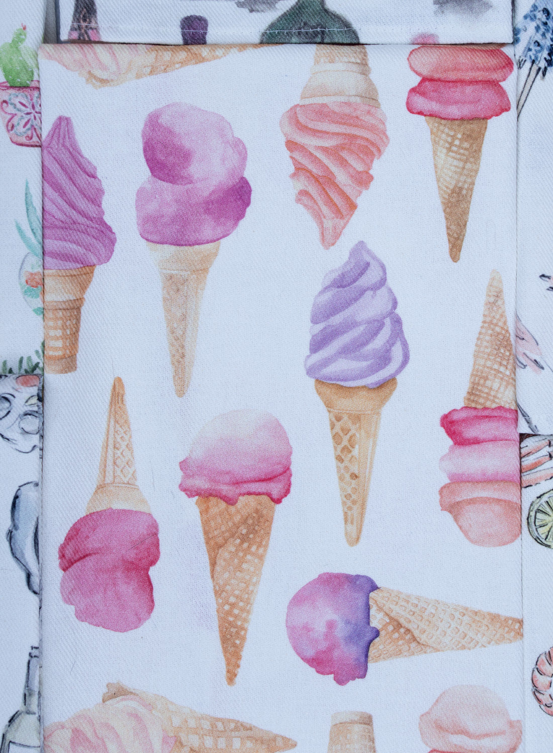 """Glaces - Ice Cream"" - Linge de maison / Kitchen Linen"