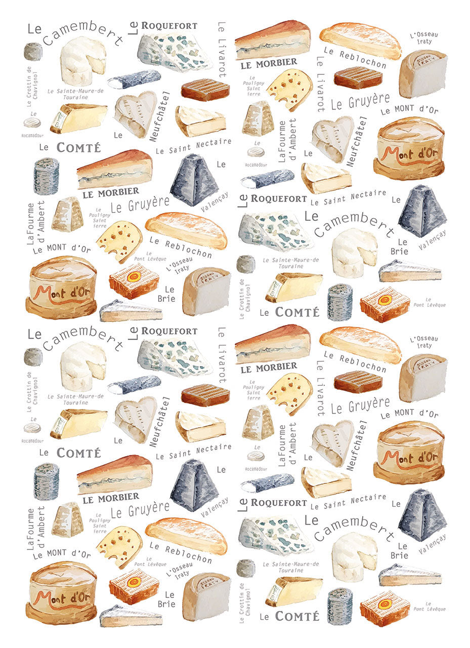 """Fromages"" - Linge de maison / Kitchen Linen"