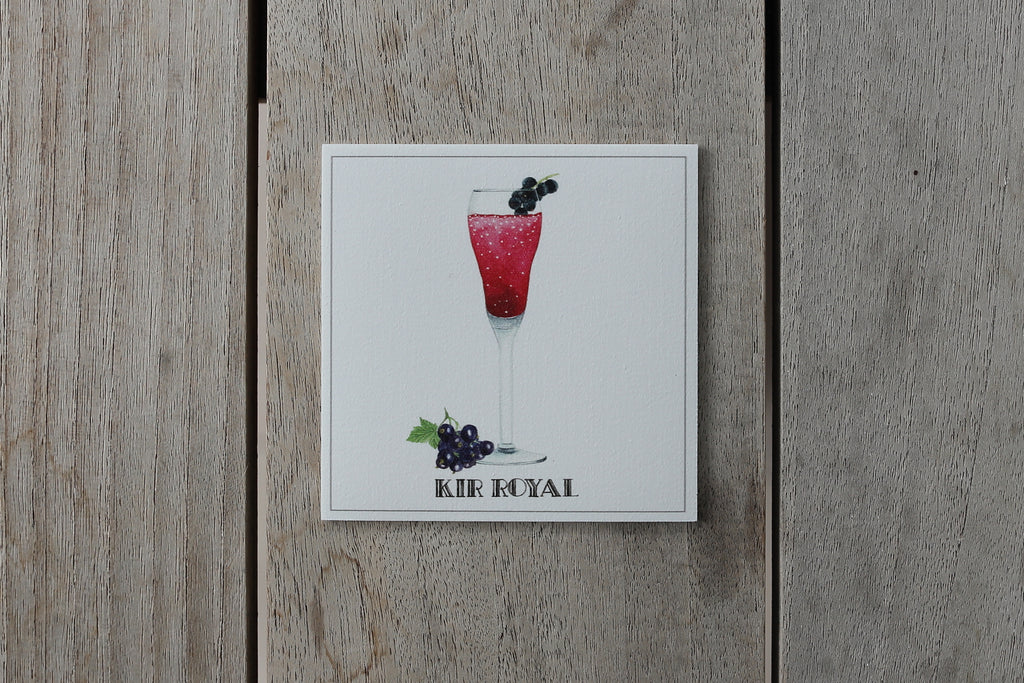 Collection Spritz - Sous-verres de Vinyle (4) / Vinyl Coasters (4) - Spritz Kir Royal