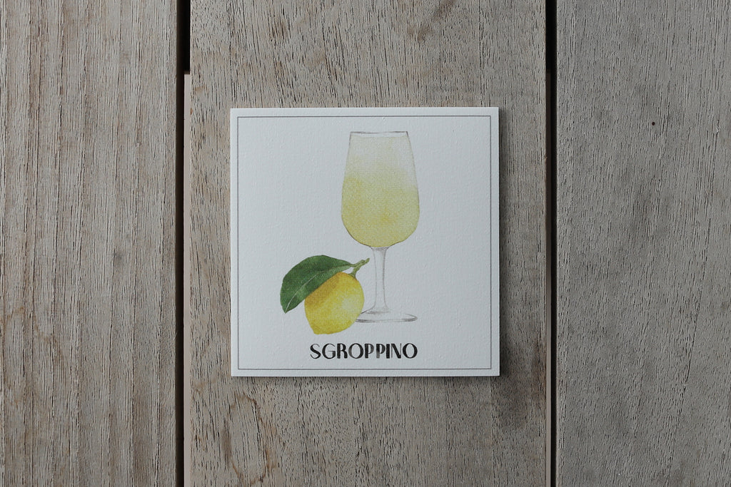 Collection Spritz - Sous-verres de Vinyle (4) / Vinyl Coasters (4) - Spritz Sgroppino