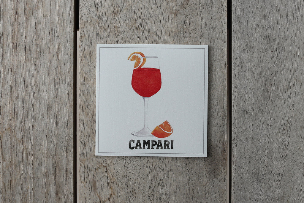 Collection Spritz - Sous-verres de Vinyle (4) / Vinyl Coasters (4) - Spritz Campari