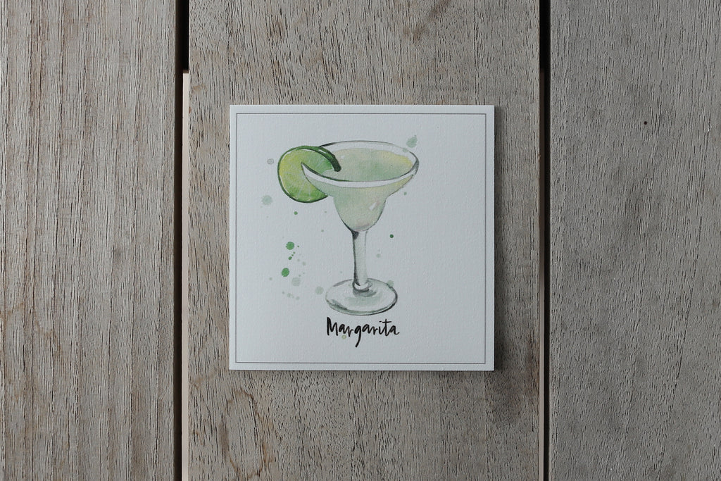 Collection cocktail - Sous-verres de Vinyle (4) / Vinyl Coasters (4) - Cocktail Margarita