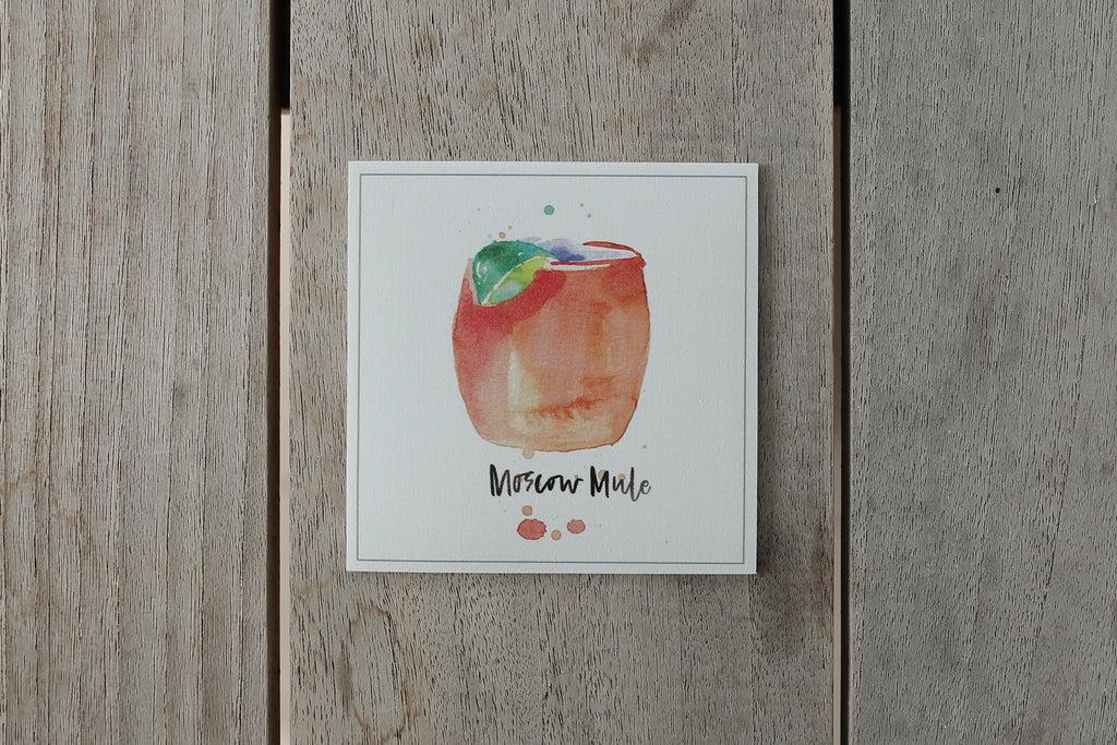 Collection cocktail - Sous-verres de Vinyle (4) - Cocktail Moscow Mule / Vinyl Coasters (4)