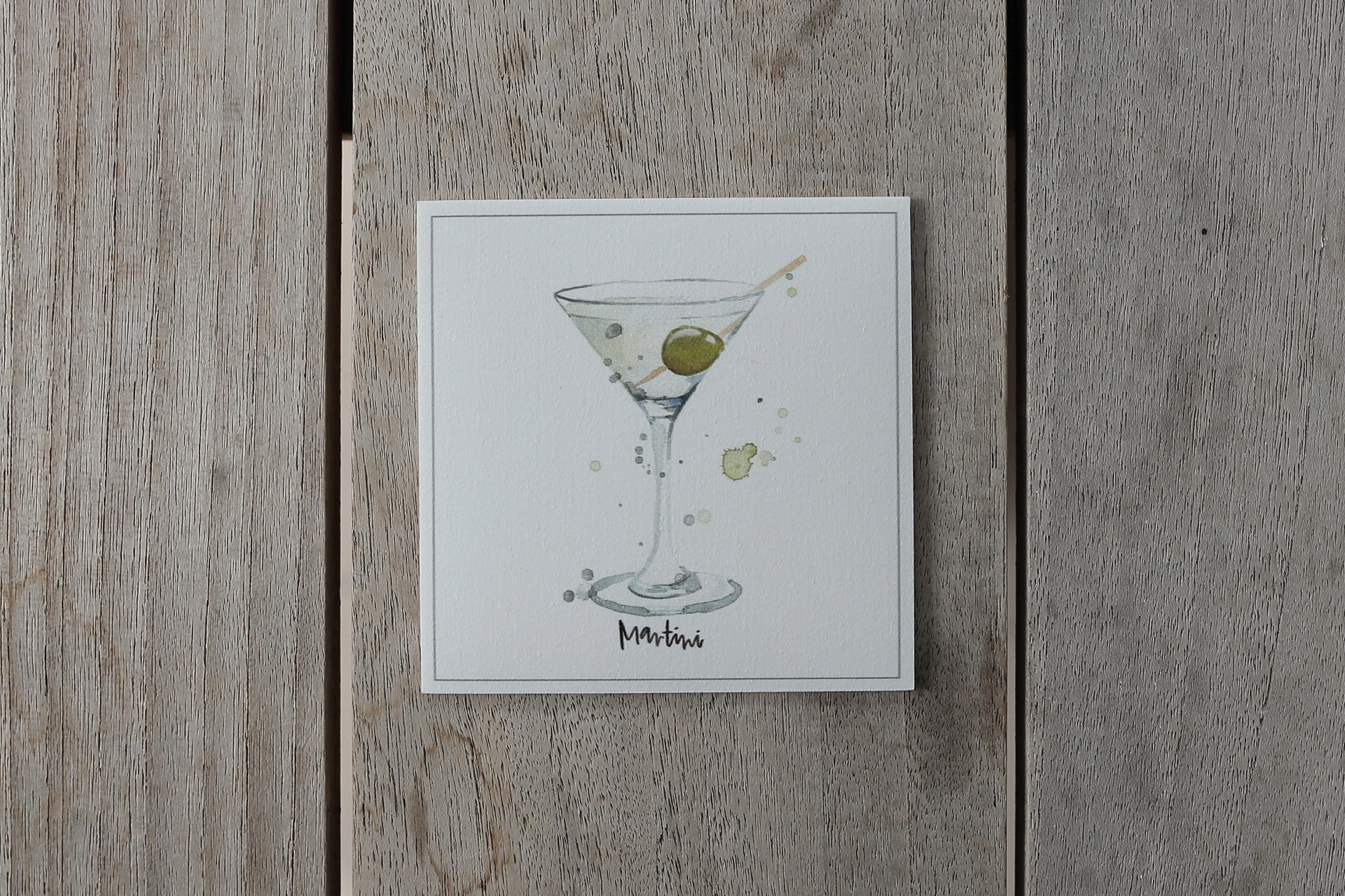 Collection cocktail - Sous-verres de Vinyle (4) - Cocktail Martini / Vinyl Coasters (4)