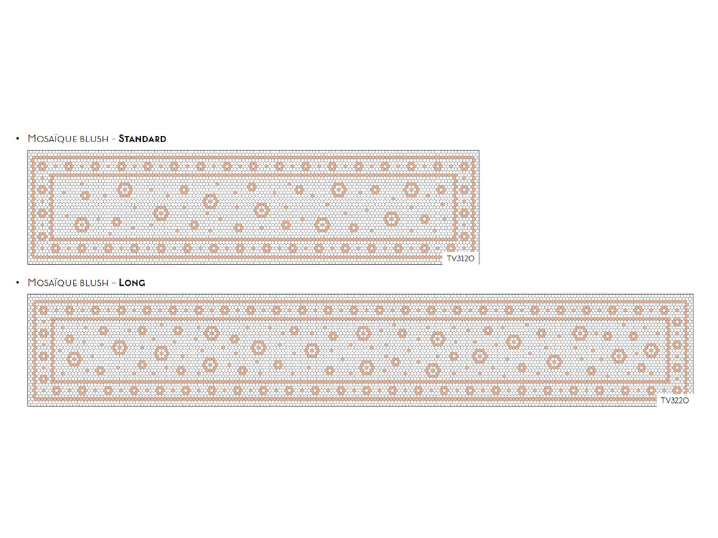 Chemin de Table Vinyle Mosaique Blush / Table Runner Mosaic Blush