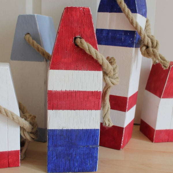 Medium Vintage Style Handmade Wooden Lobster Buoys - Saltwood  - 1