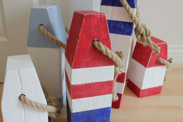 Medium Vintage Style Handmade Wooden Lobster Buoys - Saltwood  - 2