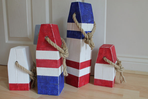 Medium Vintage Style Handmade Wooden Lobster Buoys - Saltwood  - 3