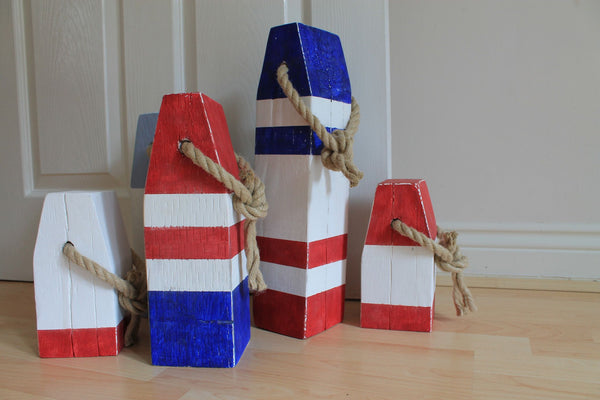 Medium Vintage Style Handmade Wooden Lobster Buoys - Saltwood  - 4