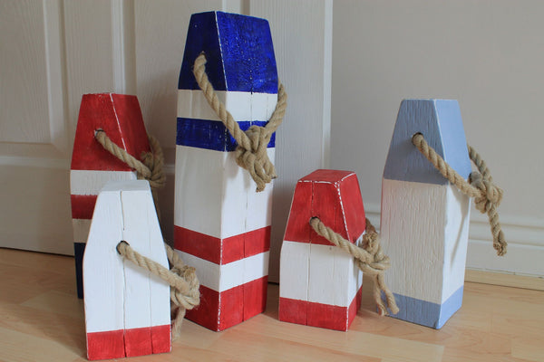 Medium Vintage Style Handmade Wooden Lobster Buoys - Saltwood  - 5