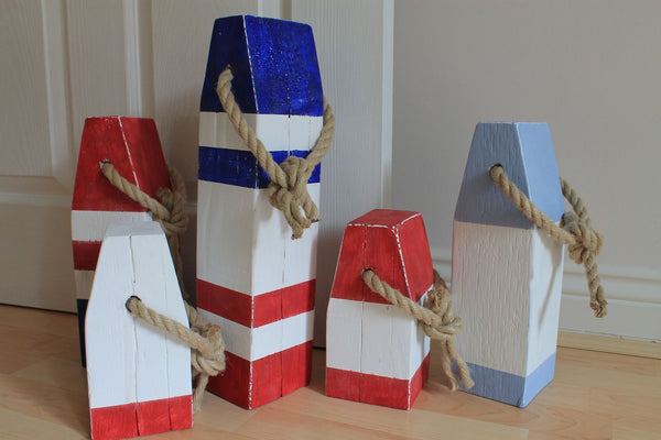 Medium Vintage Style Handmade Wooden Lobster Buoys - Saltwood  - 6