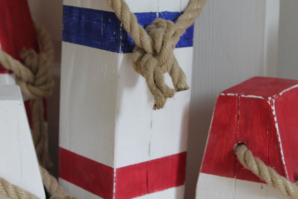 Medium Vintage Style Handmade Wooden Lobster Buoys - Saltwood  - 7