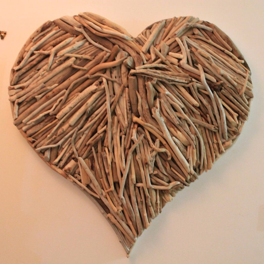 Giant Driftwood Heart