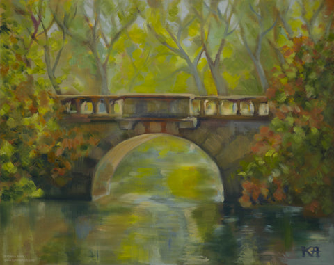 Autumn Crossing - original painting/ giclee/ poster