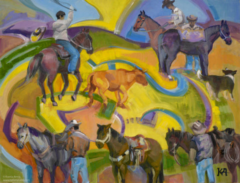 The Roping original painting