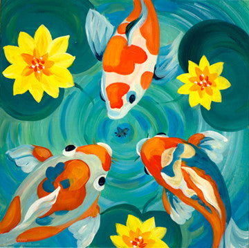 Pond Life I original painting/ giclee/ poster