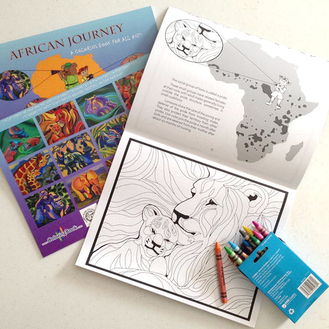 African Journey: A coloring book for all ages
