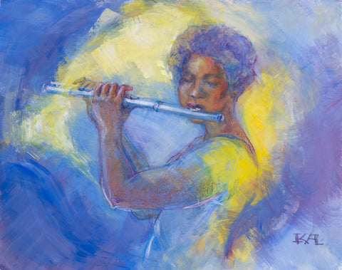 Classical Music - Flute original painting/ giclee/ poster