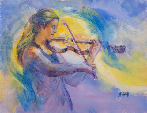Classical Music - Violin original painting/ giclee/ poster