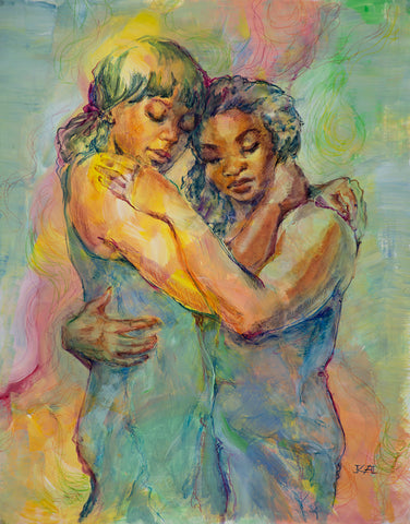 Fair Series - Lean on Me original painting/ giclee/ poster