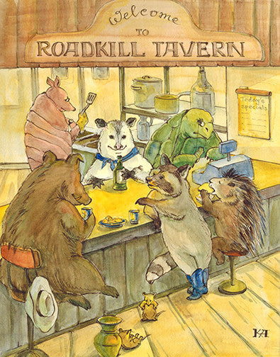 Roadkill Tavern original painting/ poster