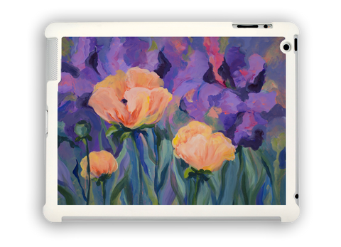 Poppies with Purple iPad case