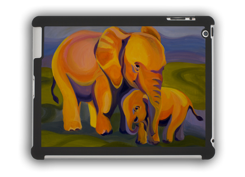 Elephants iPad case