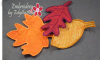 FALL FREE STANDING LEAVES - IN THE HOOP MACHINE EMBROIDERY
