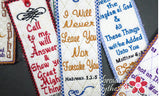 BOOKMARK SET OF SIX FAITH BASED - INSTANT DOWNLOAD - Embroidery by EdytheAnne - 2