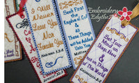 BOOKMARK SET OF SIX FAITH BASED - INSTANT DOWNLOAD - Embroidery by EdytheAnne - 3