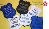 BLUE LIVES MATTER KEY TAGS - 6 designs -  INSTANT DOWNLOAD