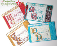 ISAIAH 9 He Shall Be Called Mug Mats/Mug Rugs In The Hoop Machine Embroidery