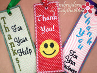 Bookmarks for saying Thank You! - INSTANT DOWNLOAD - Embroidery by EdytheAnne - 4