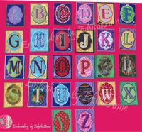 ALPHABET PARTY BANNER BLOCKS In The Hoop Machine Embroidery Designs