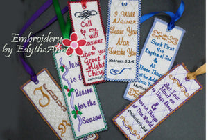BOOKMARK SET OF SIX FAITH BASED - INSTANT DOWNLOAD - Embroidery by EdytheAnne - 1
