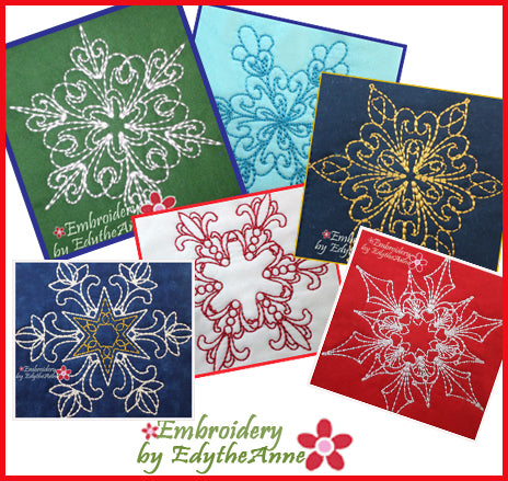 SNOWFLAKE QUILT BLOCKS  - DIGITAL DOWNLOAD
