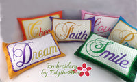 "Accent Pillows ""WORDS to LIVE BY""  Machine Embroidery Designs"