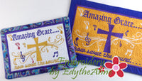 AMAZING GRACE Faith Based Mug Mat/Mug Rug - 2 Sizes Included - DIGITAL DOWNLOAD