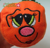 PUMPKIN BALLS STUFFIES Machine Embroidered SIX different faces. In The Hoop Project