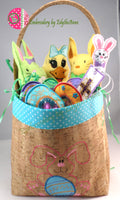 EASTER BASKET w/ Lots of Goodies Inside!  Machine Embroidery Design - DIGITAL DOWNLOAD