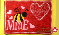 BEE MINE Valentine Mug Mat/Mug Rug - DIGITAL DOWNLOAD